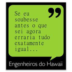 Ímã de Geladeira - Engenheiros do Hawaii - Se eu Soubesse