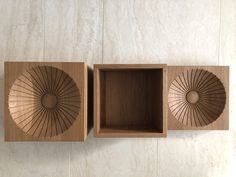 Design of a modern fruit bowl with a centrepiece milled out of a solid block of oak wood by studio a. Modern Fruit Bowl, Floating Shelves, Ash, Centerpieces, Studio, Wood, Design, Home Decor, Interior Architecture