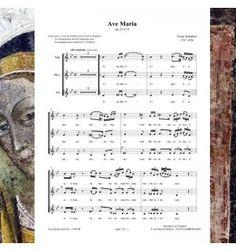 Franz SCHUBERT : Ave Maria - pour 3 voix égales - Editions Musiques en Flandres - référence : MeF 731
