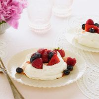 Grapefruit adds a delicious citrus taste to these meringues. #fruit #myplate