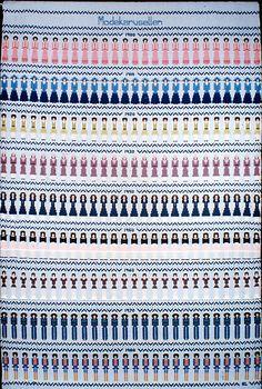 Modekarusellen väv i bunden rosengång av textilkonstnär katrin bawah