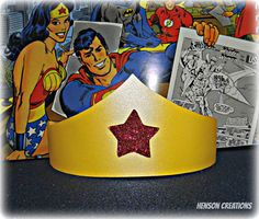 8 Wonder Woman Inspired Birthday Party crowns