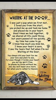 Dog poems - Waiting at the Door I Love Dogs, Puppy Love, Cute Dogs, Animals And Pets, Cute Animals, Pet Loss Grief, Loss Of Dog, Dog Poems, Pet Remembrance