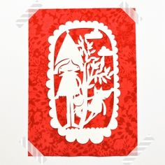 paper cut out wall decor * Little Red Riding Hood