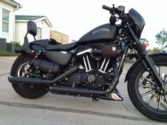 iron 883 with fast back seat and sissy bar - Google Search More #harleydavidsonsportsterroadster