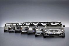 Эволюция E Class от Mercedes, очень показательно как менялся облик авто