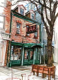 Stephen Gardner - urban sketches - 3