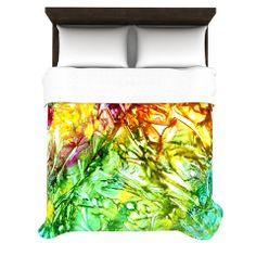"""Rosie Brown """"Kaleidoscope"""" Duvet Cover   KESS InHouse #sale #duvet #cover #bedding #homedecor #abstract #bedroom #kessinhouse"""