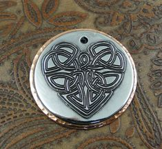Custom Celtic Heart Pet ID Tag Dog Collar by IslandTopCustomTags