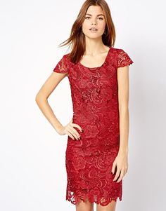 A Wear Lace Dress xmas party dress? Asos Lace Dress, I Dress, Lace Dresses, Dress Red, Xmas Party Dresses, Going Out Dresses, Burgundy Wedding, Latest Dress, New Wardrobe