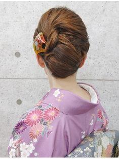 【訪問着ヘア】ボブスタイルで作るネープシニヨン★夢館★