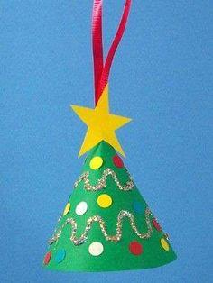 How To Make A Miniature Christmas Tree Ornament - Christmas Crafts in Christmas Tree Crafts Ornaments 50 Ho Christmas Arts And Crafts, Preschool Christmas, Christmas Activities, Christmas Projects, Christmas Themes, Holiday Crafts, Christmas Tree Decorations For Kids, Toddler Christmas, Cone Christmas Trees