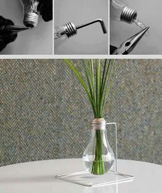 Simple idea: recycle light bulb. Riutilizzo creativo di una lampadina.