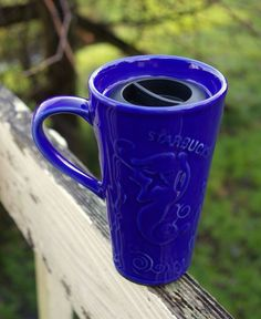 Starbucks Coffee Company Blue Chaleur Ceramic Travel Mug with Lid Mermaid Siren    eBay