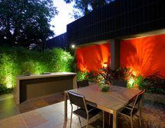 Small courtyard garden lighting design