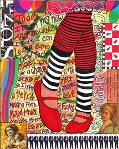 Great example of using different mediums in your art journal. What sources can you draw from for inspiration? Artist: Joann Loftus, Source: joannloftus.typepad.com