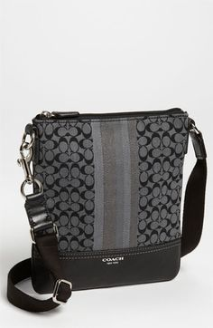 COACH 'Legacy - Signature Stripe' Crossbody Bag available at #Nordstrom    Cute for travelling in style!