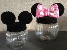 mickey & minnie mouse jar