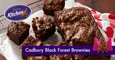 Are you a #Cadbury Black Forest block fan? This mouth-watering brownie recipe is a must try! #brownie #chocolate #bournville #cocoa To view the product featured in this recipe visit http://www.cadburykitchen.com.au/products/view/bournville-cocoa/