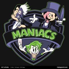 Bat MANIACS Shirt: A T-shirt for Men, Woman, Kids | RIPT Apparel