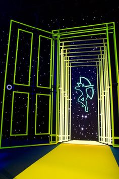 They ended at a screen that displayed the foundation's logo as well as a digital representation of the doors...