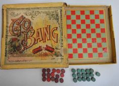 1905 antique BOARD GAME GO BANG victorian MILTON BRADLEY go moku FIRECRACKER #MiltonBradley