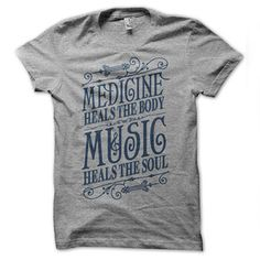 Music Heals T-Shirt Heather Gray now featured on Fab...If only they had it in a v-neck style