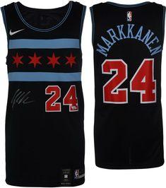 best service 047ef 6e144 Lauri Markkanen Chicago Bulls Autographed Nike City Edition Swingman Jersey   sportsmemorabilia  autograph  basketballjersey