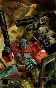 Megatron and Optimus.