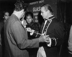 "Marlon Brando & Tarita Teriipia on the set of ""Mutiny On The Bounty"" C.1962."