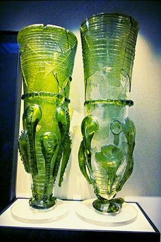 Sixth Century Anglo Saxon Glass Claw Beakers, British Muse… | Flickr