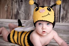 Ravelry: Bumble Bee Suit-Newborn to 11 yrs (Bug Suit) pattern by Boomer Beanies $6.50 for pattern