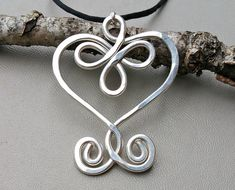 Big Celtic Heart Sterling Silver Pendant, Gift for Her Large Celtic Heart Necklace, Jewelry Silver Heart, Celtic Knot, Women, Mother, Wife