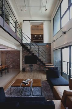 modern open loft style living lai residence by pmkdesigners