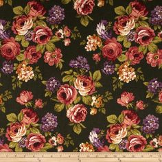Designed by Rosemarie Lavin Design for Windham Fabrics, this soft, single napped flannel fabric is perfect for quilting, apparel and home décor accents. Colors include shades of purple, shades of green, shades of gold, shades of coral and white.