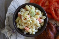 Not your Mama's Bacon Macaroni Salad - Made this last night, soooooo good. Only thing I added was some dill and dried parsley (didn't have any fresh) and then I played with the mayo and sour cream to tone down the tartness of the dressing a little. Delicious!!