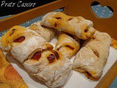 Prato Caseiro: Pão de mistura com chouriço de porco preto