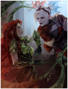 Poison Ivy Cartoon, Poison Ivy Dc Comics, Harley Y Joker, Harley Quinn, Dc Comics Characters, Cute Characters, Marvel Dc Comics, Pamela Isley, Daddys Lil Monster