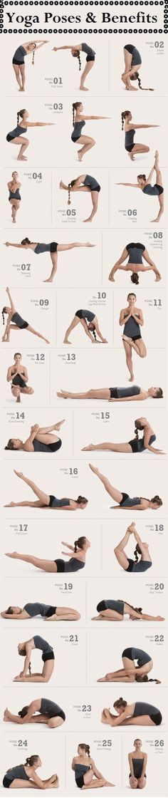 Yoga poses to work every part of the body. I do all these poses in Hot Yoga! I love Hot Yoga :) Fitness Workouts, Fitness Del Yoga, Sport Fitness, Fitness Motivation, Health Fitness, Health Yoga, Mental Health, Fitness Weightloss, Fitness Life