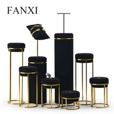 FANXI New Arrival Jewelry Display Leather Necklace Earring Bracelet Display Stand with Metal Base for Jewelry Shop – Jewelry & Accessories Jewelry Store Displays, Jewellery Shop Design, Jewellery Showroom, Jewellery Display, Jewelry Shop, Jewelry Stores, Cheap Jewelry, Frosted Glass Design, Bracelet Display