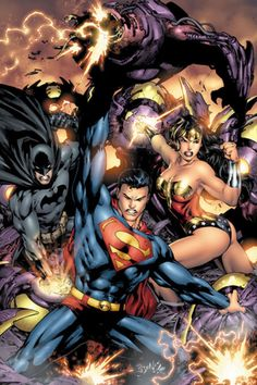 Superman, Batman, and Wonder Woman by Ed Benes