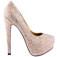 Starlite heels Rainbow Rhinestone brand heels Taylor Says |Amazoning Heels|