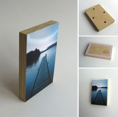 Objectify DIY Photo Block - photo wall, nice with plywood showing