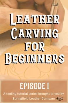 Leather Carving for Beginners - Episode 1 : Let Denny show you the ways of leather carving! In this video, Denny introduces leather carving, some essential tools to get started, and basic principles of the carving process. Leather Stamps, Leather Art, Sewing Leather, Leather Gifts, Leather Tooling, Leather Books, Custom Leather, Handmade Leather, Leather Jewelry