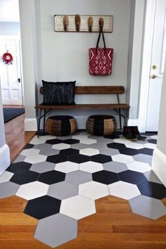 If you are planning to start the New Year by redecorating your home, it's important to know the new tile trends to give a new look to your favorite rooms, such as the kitchen or bathroom. So be creati Floor Design, Tile Design, Transition Flooring, Tile To Wood Transition, Transitional Decor, Transitional Kitchen, Deco Design, Color Tile, Dream Decor