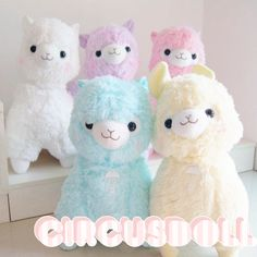 """Solid Color Alpaca Plushies 45"""" ♥ You can use the... - stay ♥ creepy"""