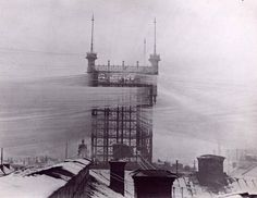 The Telefontornet connecting some 5 000 phone lines in Stockholm 1890.