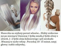 Ta maseczka spowoduje szybszy porost włosów!!! Diy Beauty, Beauty Hacks, Blonde Ombre, Hair Designs, Hair Hacks, Hair Inspiration, Hair Makeup, Dreadlocks, Hairstyle