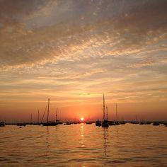 "@gailo_oliag's photo: ""Sunset in Watch Hill"" #VisitRhodeIsland"