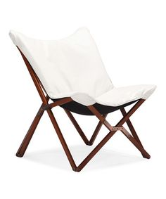 Take a look at this White Draper Lounge Chair on zulily today!